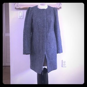 Gray wool blend coat by H&M
